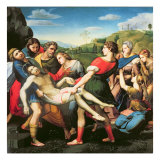The Entombment, after a Painting by Raphael Giclée-tryk af Sassoferrato (Giovanni Battista Salvi)