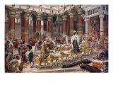 The Visit of the Queen of Sheba to King Solomon Giclee Print by Edward John Poynter