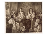 The Crown Offered to William and Mary by the Lords and Commons at Whitehall, February 12, 1689 Giclee Print by Edgar Melville Ward