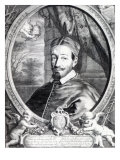 Pope Alexander Vii, Published by Clement De Jonghe Giclée-Druck von Cornelius de Visscher
