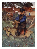 A Boy of Veere Astride a Rocking Horse, 1904 Giclee Print by Nico Jungman