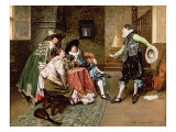 An Engaging Tale, 1894 Giclee Print by Ferdinand Roybet