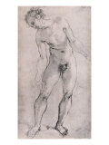 Study of Male Figure for the 'Deposition' Altarpiece in Capella Capponi, Santa Felicita, Florence Giclee Print by Jacopo da Carucci Pontormo