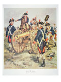American Continental Army: Artillery Uniforms of 1777-83 Giclee Print by Henry Alexander Ogden