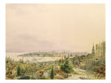 View of Constantinople from Pera Giclee Print by Amadeo Preziosi