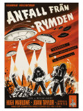 Earth vs. the Flying Saucers, Swedish Movie Poster, 1956 Premium Giclee Print