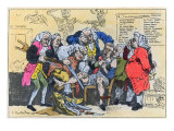 Caricature of Georgian Surgeons at Work, 1793 Giclee Print by Thomas Rowlandson
