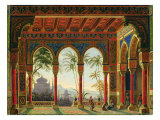 Stage Design for the Opera 'Ruslan and Lyudmila' by M. Glinka, 1842 Giclee Print by Andreas Leonhard Roller