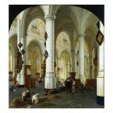 Interior of the Oude Kerk in Delft Giclée-Druck von Hendrik Cornelisz van Vliet