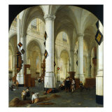 Interior of the Oude Kerk in Delft Giclee Print by Hendrik Cornelisz van Vliet