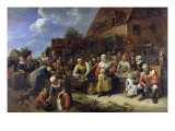 A Village Banquet Giclee Print by Gillis van Tilborgh