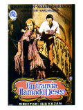 A Streetcar Named Desire, Spanish Movie Poster, 1951 Posters
