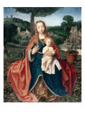 The Virgin and Child in a Landscape Giclee Print by Jan Provoost