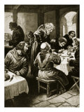 Wimund Telling Adventures to Byland Monks, Illustration, &#39;Hutchinson&#39;s Story of British Nation&#39; Giclee Print by Ernest Prater