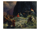 The Meeting of General Kluke Von Klugenau and Imam Shamil in 1837, 1849 Giclee Print by Grigori Grigorevich Gagarin