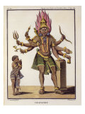 Shiva as Virapatren, Lord with ill-formed Evil Eye, from 'Voyage aux Indes et a la Chine' Giclee Print by Pierre Sonnerat