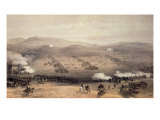 Charge of Light Cavalry Brigade, 25th October 1854, engraved by E. Walker, pub. by Colnaghi and Co Giclee Print by William Simpson