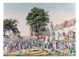 Village Festival in Honour of Old Age at the Time of the French Revolution, 1795 Giclee Print by Pierre Alexandre Wille
