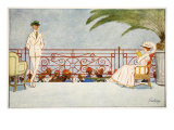 Romeo and Juliet-Balcony Scene at Shepheard's Hotel, Cairo, from 'The Light Side of Egypt', 1908 Giclee Print by Lance Thackeray