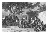 Domestic Chastisements, engraved by Deroi, pub. by Engelmann, c.1835 Giclee Print by Johann Moritz Rugendas