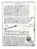 Astronomical Diagrams, from the Codex Leicester, 1508-1512 Giclee Print by Leonardo da Vinci