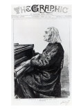 Franz Liszt, Cover of 'The Graphic', April 10th 1886 Giclee Print by Charles Paul Renouard