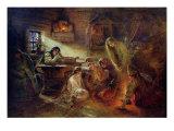 Christmas Fortune Telling Giclee Print by Konstantin Egorovich Makovsky