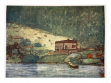 A Little Farm on the Riverside at Gjoba, 1905 Giclee Print by Nico Jungman