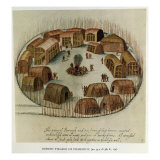 Indian Village of Pomeiooc Reproduction proc&#233;d&#233; gicl&#233;e par John White