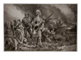 Their Ordeal of Fire: the Grenadier Guards at the Battle of Biddulph's Berg Giclee Print by Richard Caton Woodville