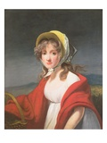 Portrait of a Girl Wearing a Red Shawl Giclee Print by Richard Westall