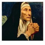 St. Monica Giclee Print by Luis Tristan de Escamilla