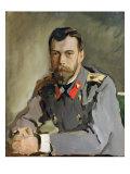 Portrait of Nicholas Ii, 1900 Giclee Print by Valentin Aleksandrovich Serov