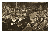 The Lords and Commons Who Received His Majesty's Preliminary Declaration Giclee Print by Walter Wilson