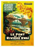 Bridge on the River Kwai, French Movie Poster, 1958 Reprodukce