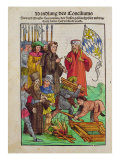The Execution of Jan Hus at Council of Constance, from 'Chronik des Konzils von Konstanz' Giclee Print by Ulrich Von Richental