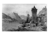 St. Goar, engraved by J. Outhwaite, printed by Cassell and Company Giclee Print by Thomas Charles Leeson Rowbotham