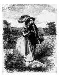 Felix de Vandenesse and Madame de Mortsauf, Illustration for 'Le Lys Dans la Vallee' Giclee Print by Pierre Gustave Eugene Staal