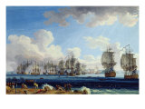 The Battle of Chesma on the 5th July 1770 Giclee Print by Jacob-Philippe Hackert