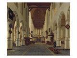 Interior of the Oude Kerk, Delft, c.1660-70 Giclee Print by Hendrik Cornelisz van Vliet