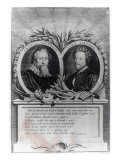 Francis Beaumont and John Fletcher, Engraved by T. Ryder Giclee Print by Michael Rooker