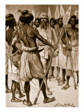 The Type of Warrior Burton Met in Somaliland Giclee Print by Stanley L. Wood