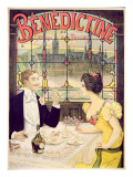 Advertisement for Benedictine, printed by Imp. Andre Silva, Paris, 1898 Giclee Print by Lucien Lopes Silva