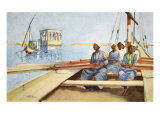 To Philae in a Felucca, from 'The Light Side of Egypt', 1908 Giclee Print by Lance Thackeray