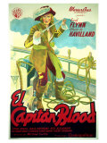 Captain Blood, Spanish Movie Poster, 1935 Art