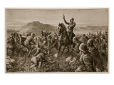 Lord Methuen Rallying His Broken Forces at Tweebosch Giclee Print by Charles Mills Sheldon