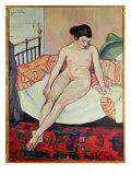 Nude with a Striped Blanket, 1922 Giclée-Druck von Marie Clementine Valadon