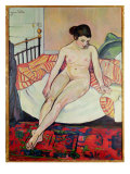 Nude with a Striped Blanket, 1922 Giclee Print by Marie Clementine Valadon