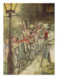 Bob Cratchit Went Down a Slide on Cornhill, from 'A Christmas Carol' Giclee Print by Arthur Rackham