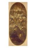 Jakobsstigen Giclée-tryk af Domenico Tintoretto
